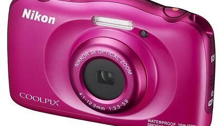 Digitální fotoaparát Nikon Coolpix W100 BACKPACK KIT (VQA012K001) růžový + Doprava zdarma