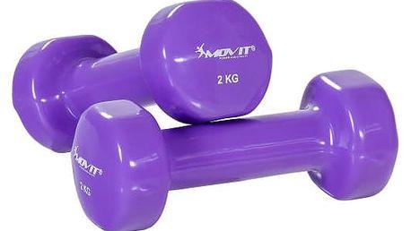 MOVIT 26862 Sada vinylových činek 2 x 2 kg fialové