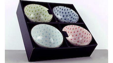 MIJ Set misek Asanoha Design 4 ks