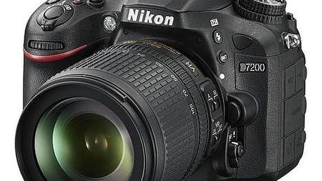 Digitální fotoaparát Nikon D7200 + 18-105 AF-S DX VR černý + Cashback 2000 Kč + Doprava zdarma