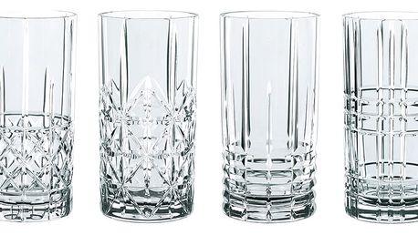 Sada 4 sklenic z křišťálového skla Nachtmann Highlands, 445ml