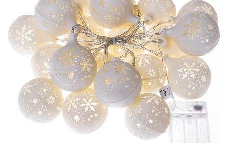 Ledko Světelný řetěz Kuličky 20 LED, studená bílá