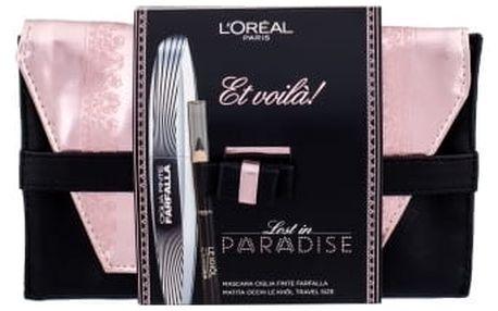 L´Oréal Paris False Lash Wings dárková kazeta pro ženy řasenka 7 ml + tužka na oči Le Khol 1 g 101 Midnight Black + psaníčko