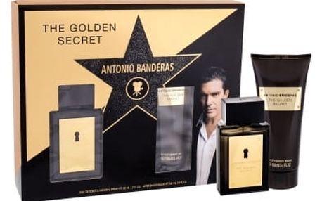 Antonio Banderas The Golden Secret dárková kazeta pro muže toaletní voda 50 ml + balzám po holení 100 ml