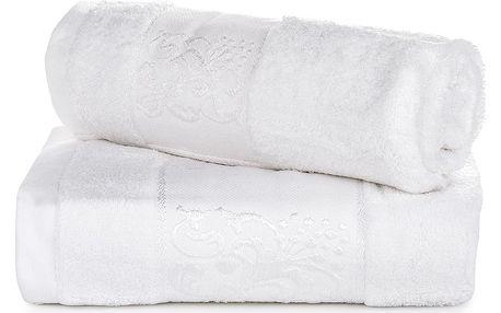 Jahu dárková sada ručníků bambus Ankara bílá