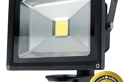 LED reflektor Solight 20W, studená bílá, 1600lm, se senzorem (WM-20WS-E) černý