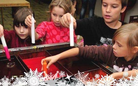 Vánoční tvoření v olomoucké svíčkárně