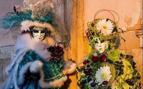 Velkolepý karneval v Benátkách. Veselý 4 denní zájezd s ubytováním a průvodcem