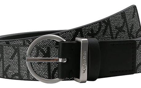 Calvin Klein černý pásek Marissa Monogram