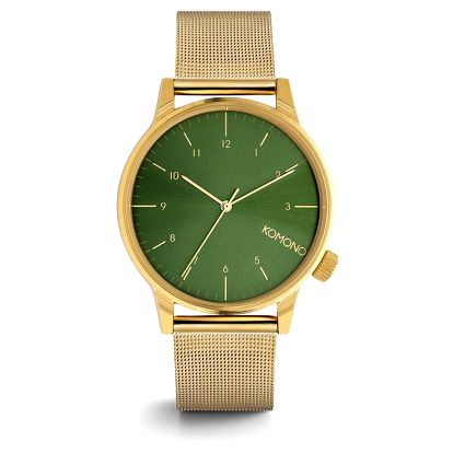 Komono Unisex hodinky Komono Winston Royale Gold-Green, zelená barva, zlatá barva, kov