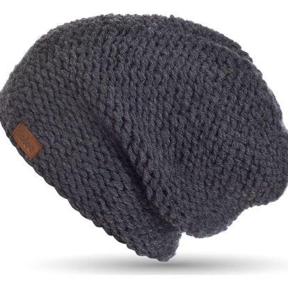 Ručně pletená čepice DOKE Dark