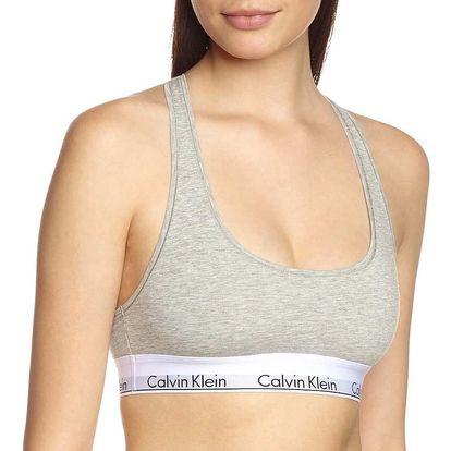 Dámská sportovní podprsenka Calvin Klein Modern Cotton šedá L