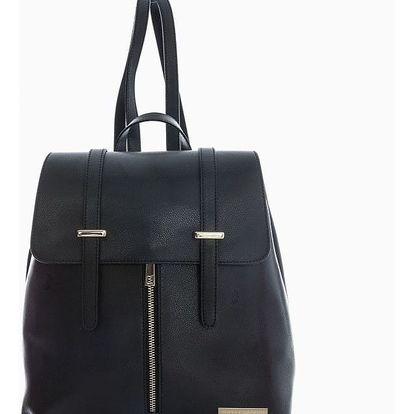 Černý kožený batoh Sofia Cardoni Tefe - doprava zdarma!