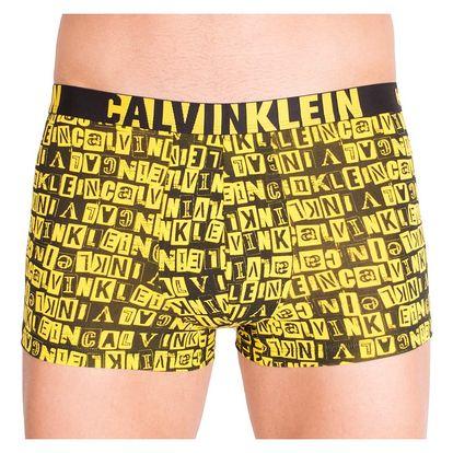 Pánské boxerky Calvin Klein ID černo žlutá písmena L