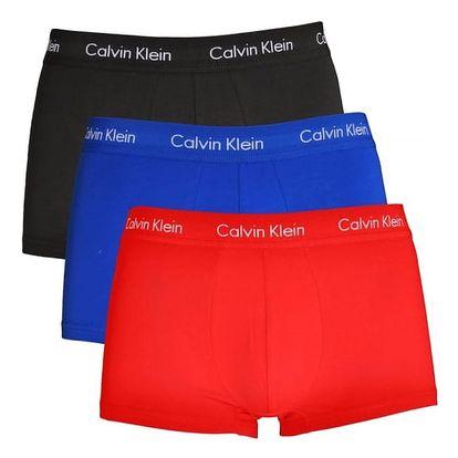 Calvin Klein 3 pack barevných pánských boxerek Low Rise Trunks