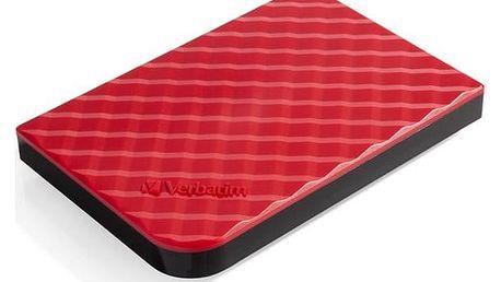 """Externí pevný disk 2,5"""" Verbatim 1TB (53203) červený"""