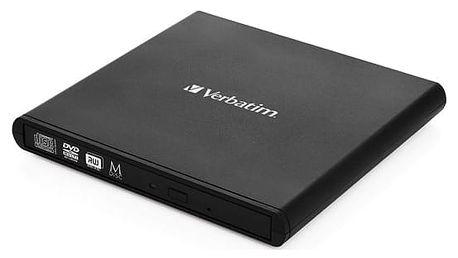 Externí DVD vypalovačka Verbatim Slimline USB 2.0 (98938) černá