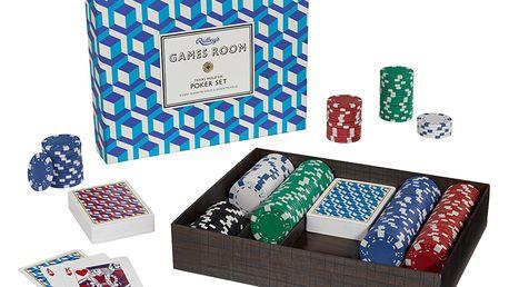 Ridley's Games Room Sada na Texas Hold 'em Poker, modrá barva, plast, papír