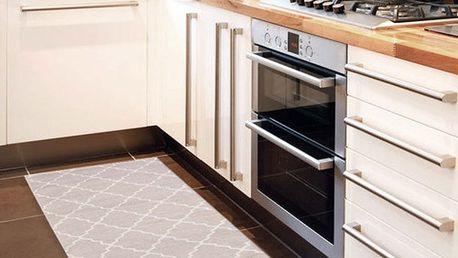 Vysoce odolný kuchyňský běhoun Webtappeti Lattice Sand, 60x220 cm - doprava zdarma!