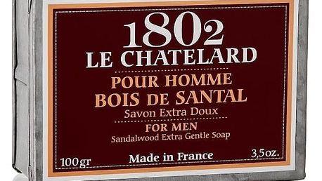 LE CHATELARD Mýdlo v zinkové krabičce Sandalwood 100g, červená barva, hnědá barva, zinek