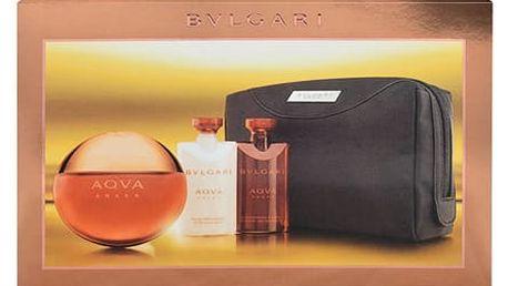 Bvlgari Aqva Amara EDT dárková sada M - EDT 100 ml + balzám po holení 75 ml + sprchový gel 75 ml + kosmetická taška