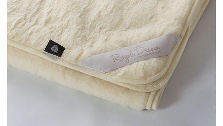 Béžová vlněná deka Royal Dream Merino,140x200cm - doprava zdarma!