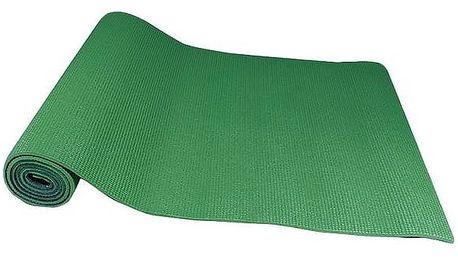 Podložka Yate Yoga Mat, dvouvrstvá + taška šedá/zelená
