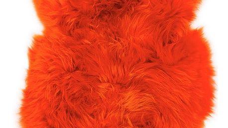 Oranžová ovčí kožešina Swedo, 110x60cm - doprava zdarma!
