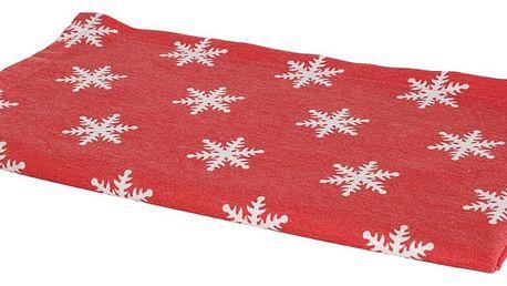 Vánoční běhoun na stůl Apolena Shine Snow, 40x140cm
