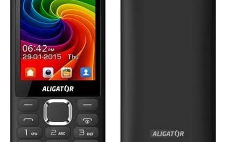 Mobilní telefon Aligator D940 Dual Sim (AD940BG) černý