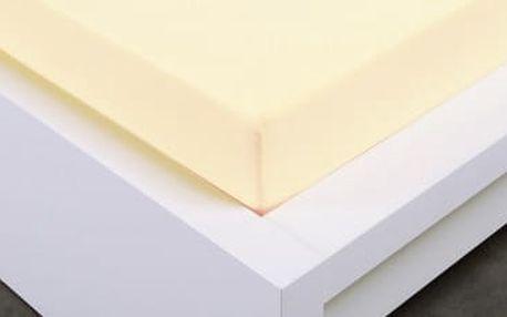 XPOSE ® Jersey prostěradlo dvoulůžko - vanilková 180x200 cm