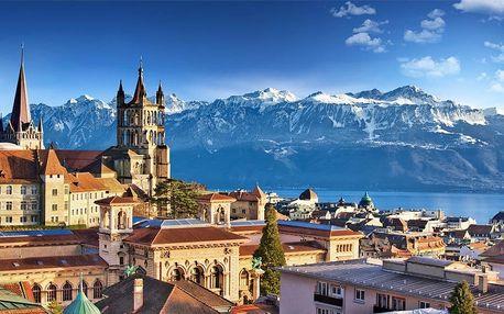 3denní výlet na hrad Chillon a do měst Lausanne a Ženeva pro 1 os.