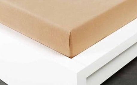 XPOSE ® Jersey prostěradlo dvoulůžko - béžová 180x200 cm