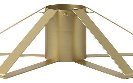 ferm LIVING Kovový stojan na vánoční stromek Brass, zlatá barva, kov