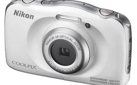 Digitální fotoaparát Nikon Coolpix W100 BACKPACK KIT (VQA010K001) bílý + Doprava zdarma