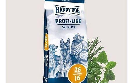Granule HAPPY DOG Profi-Linie 26/16 Sportive 20 kg + okamžitá sleva 100 Kč! + Doprava zdarma