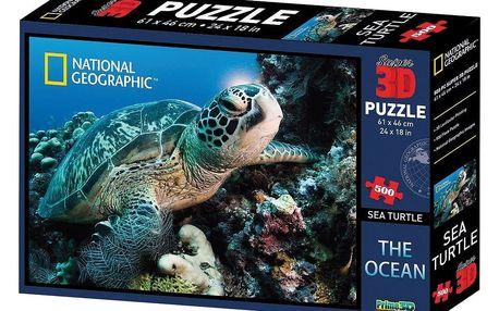 VOG 3D puzzle National Geographic vodní želva, 500 dílků
