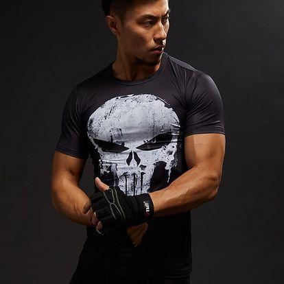 Fitness tričko s lebkou
