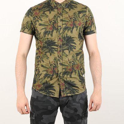 Košile Alcott ALLOVER PRINTED HALF SLEEVE Zelená