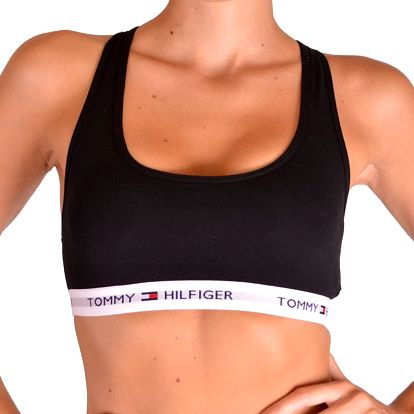 Dámská sportovní podprsenka Tommy Hilfiger iconic černá XS