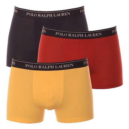 3PACK pánské boxerky Ralph Lauren modrá žlutá červená S