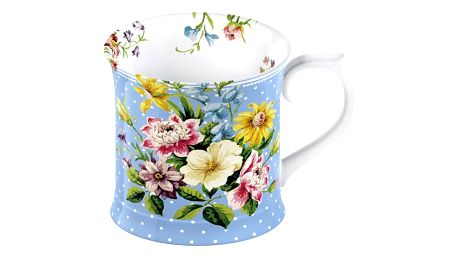 Modrý porcelánový hrnek Creative Tops English Garden, 350 ml