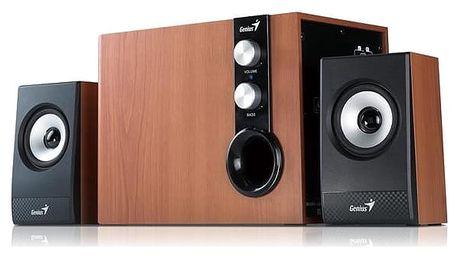 Reproduktory Genius SW-HF 1205 2.1 (31730972100) černá/imitace dřeva