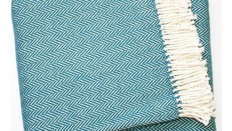 Modrá deka Euromant Skyline, 140x180cm