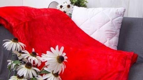 XPOSE ® Deka mikroflanel červená 200x230 cm