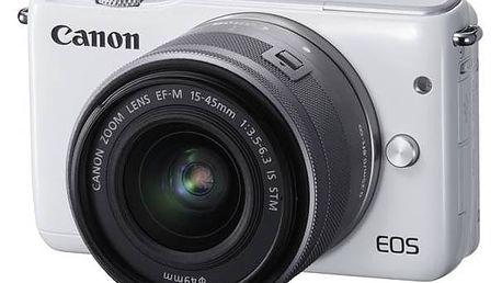 Digitální fotoaparát Canon EOS M10 + 15-45mm STM bílý + Doprava zdarma