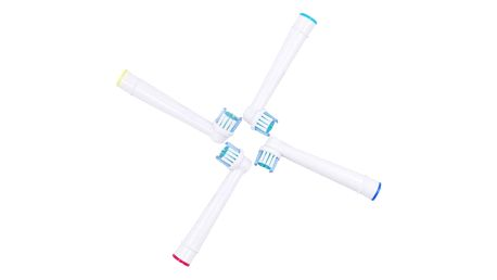 Náhradní hlavice na elektronický zubní kartáček - 4 kusy