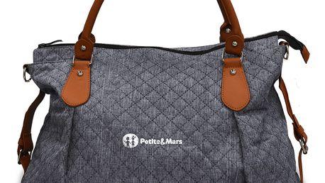 PETITE&MARS Přebalovací taška s podložkou Tessa - Blue Channels