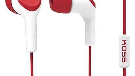 Sluchátka Koss KEB/15i (doživotní záruka) červená + Doprava zdarma