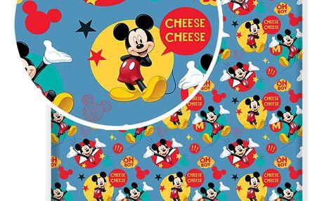 Jerry Fabrics Bavlněné prostěradlo Mickey 2017 90x200 cm